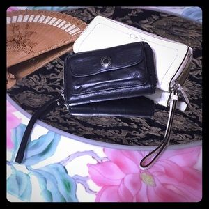 1 White Coach clutch & 1 black Coach wallet